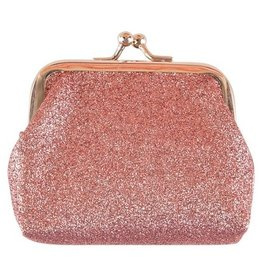 Mila & Rose Coin Purse Rose Gold Glitter