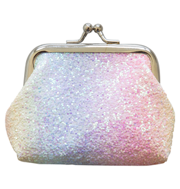 Mila & Rose Coin Purse Rainbow Glitter