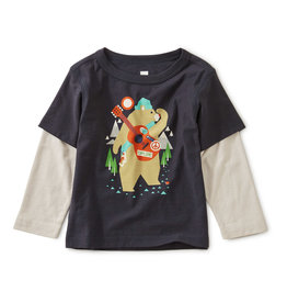 Tea Collection Camp Bear Tee 3/6M-6/9M