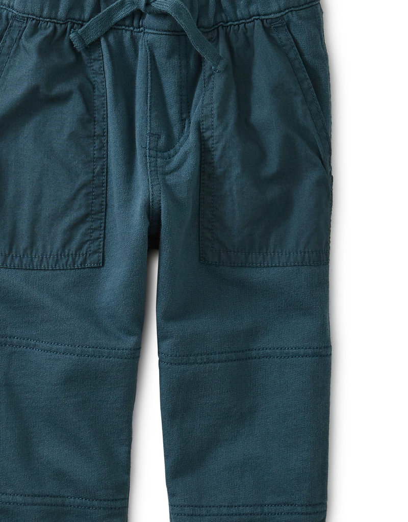 Tea Collection Baby Woven Patch Pocket Pants Bedford Blue 6/9M