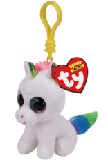 Ty Pixy White Unicorn Clip