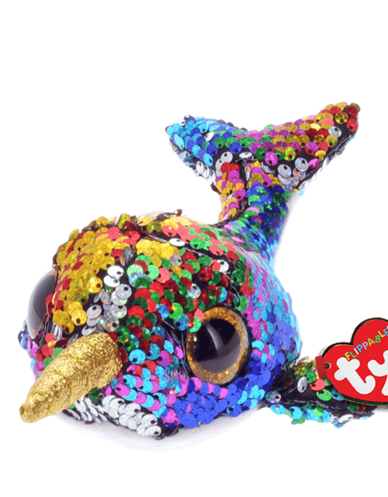 """Ty Calypso Sequin Narwhal 6"""""""