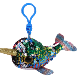 Ty Calypso Sequin Narwhal Clip