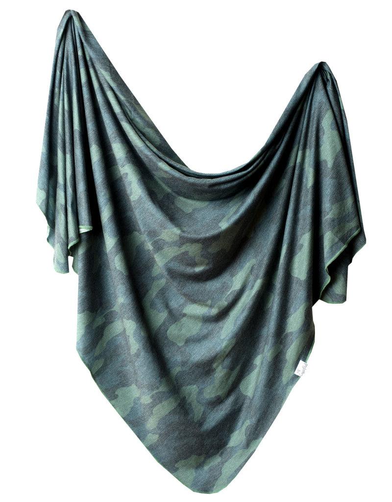 Copper Pearl Knit Blanket Hunter