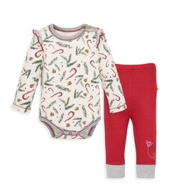 Burt's Bees Candy Cane Forest Set 3/6M, 6/9M