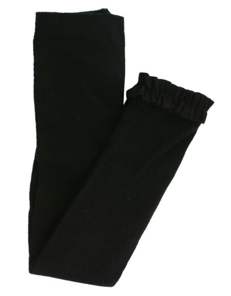 Ruffle Butts Black Footless Ruffle Tights 0/6-12/24M