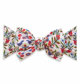 Baby Bling Bow Printed Knot Bluebird