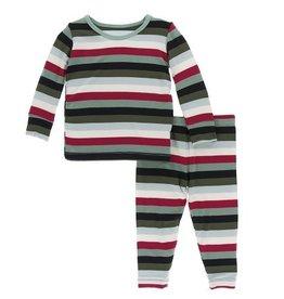 Kickee Pants PJ Set Multi Stripe 8