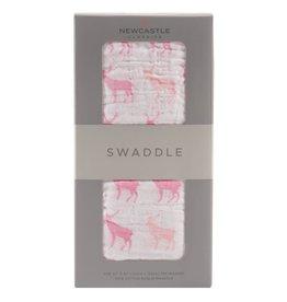 Newcastle Swaddle Pink Deer