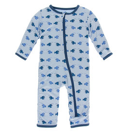 Kickee Pants Coverall w/Zip 6/9M, 9/12M