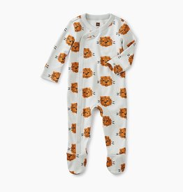 Tea Collection Cuddly Cubs Footed Romper NB