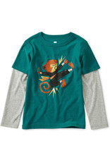 Tea Collection Monkey Layered Graphic Tee