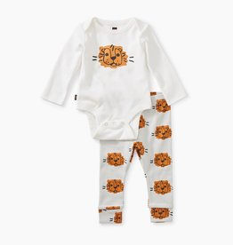 Tea Collection Paperwhite Bodysuit Outfit NB, 0/3M
