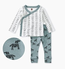 Tea Collection Baby Outfit Geo NB-3/6M
