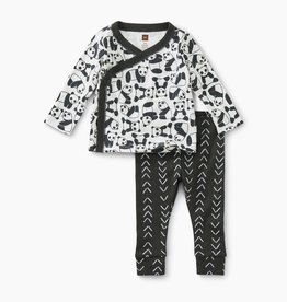 Tea Collection Baby Outfit Panda Pups 0/3-6/9M