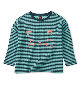Tea Collection Meow Knit Top  3T