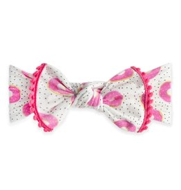 Baby Bling Bow Trimmed Printed Knot