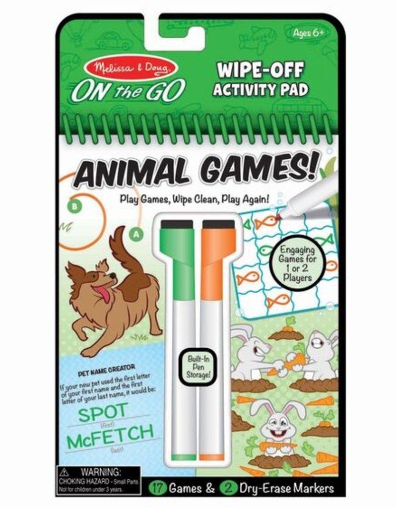 Melissa & Doug Animal Games Wipe Off Activity Pad