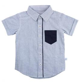 Blue Seersucker Shirt 18/24M
