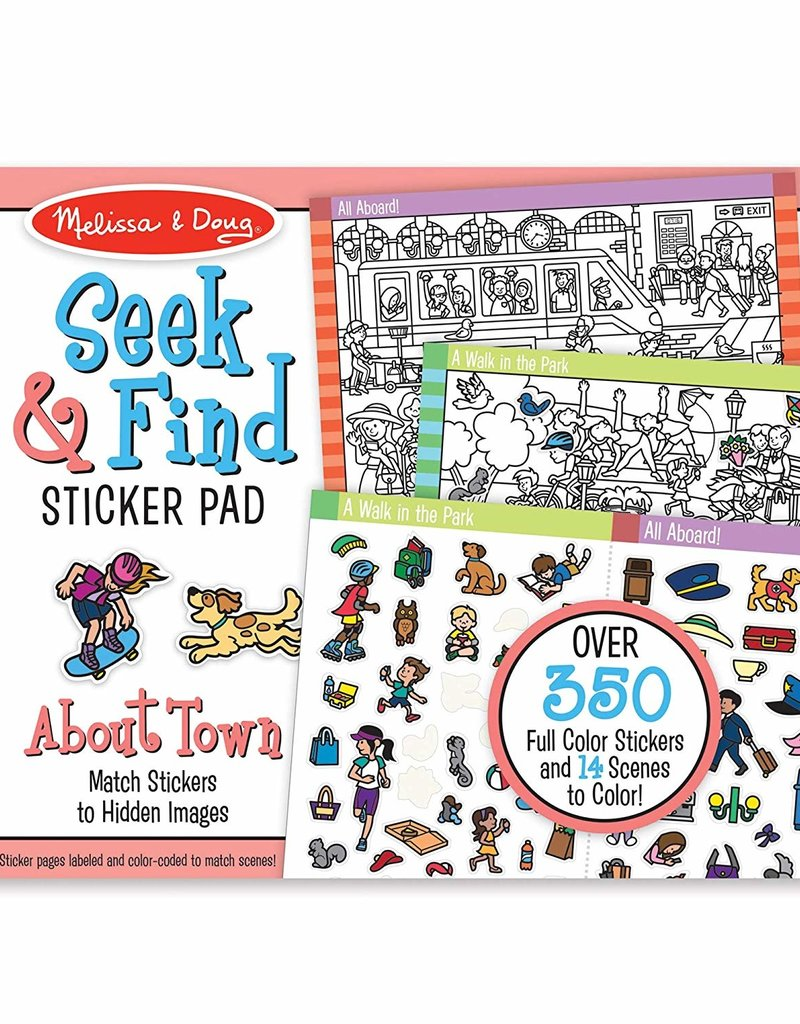 Melissa & Doug Seek & Find Sticker Pad Around Town