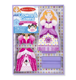 Melissa & Doug Magnetic Dress-up Crowns/Gowns