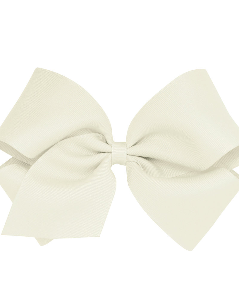 Wee Ones King Grosgrain Bow Ant White