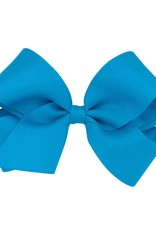 Wee Ones Med Grosgrain Bow Island Blue