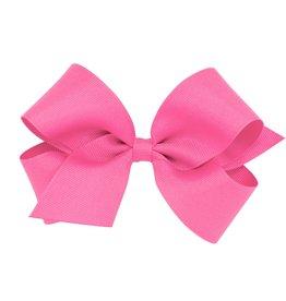 Wee Ones Med Grosgrain Hot Pink
