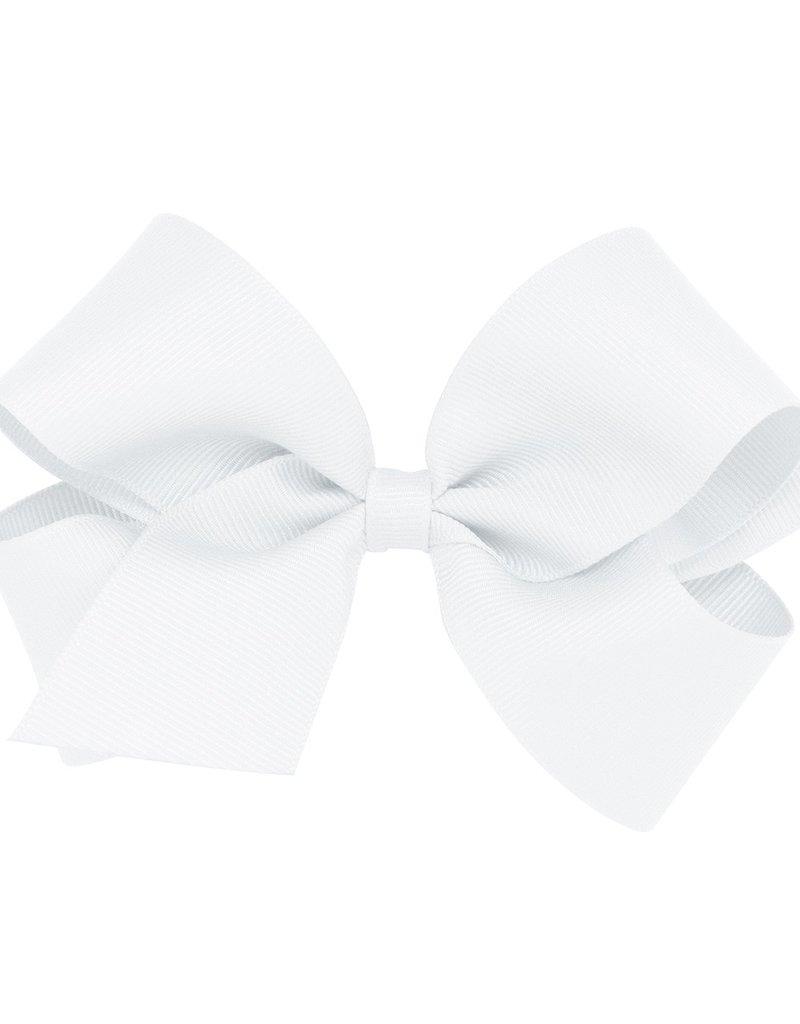 Wee Ones Med Grosgrain Bow White