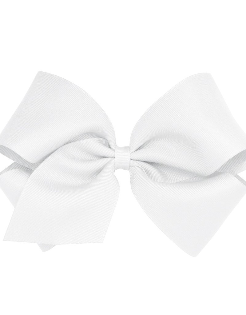 Wee Ones King Grosgrain Bow White