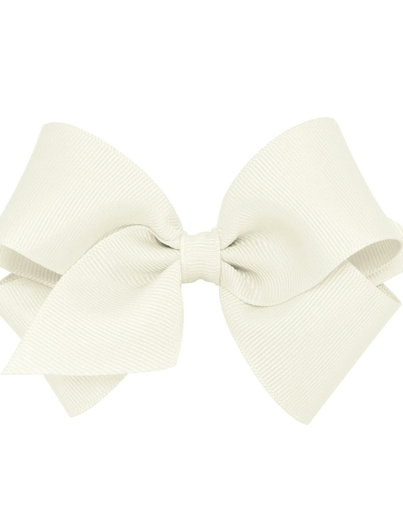 Wee Ones Small Grosgrain Bow AntWhite