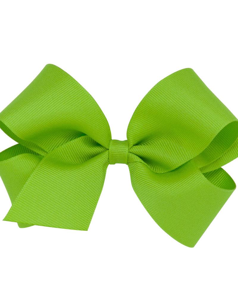 Wee Ones Med Grosgrain Bow Apple Green