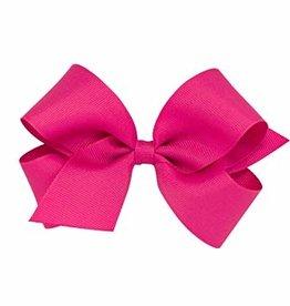Wee Ones Med Grosgrain Shocking Pink