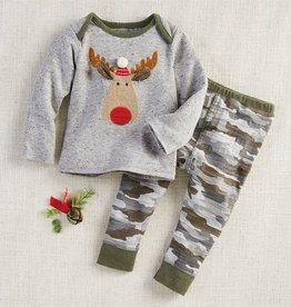 Mud Pie Camo Moose 2 pc Set 0/3M-3/6M