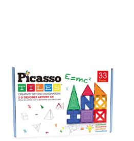 Picasso Tiles Magnet Educational Set 33 pc