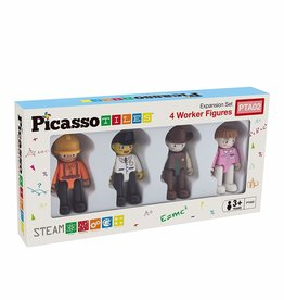 Picasso Tiles Set of 4 Professional Figures