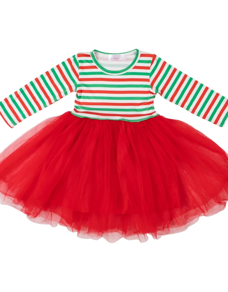 Mila & Rose Christmas Stripe Tutu Dress 3T