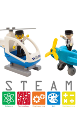 Picasso Tiles Airplane/Helicopter Aircraft Set