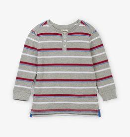 Crimson Stripe Henley 2T