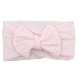 Mila & Rose Nylon Bow Headwrap Pink