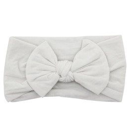 Mila & Rose Nylon Bow Headwrap Pearl