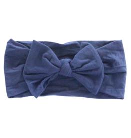 Mila & Rose Nylon Bow Headwrap Navy