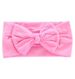 Mila & Rose Nylon Bow Headwrap Bubblegum