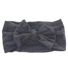 Mila & Rose Nylon Bow Headwrap Black