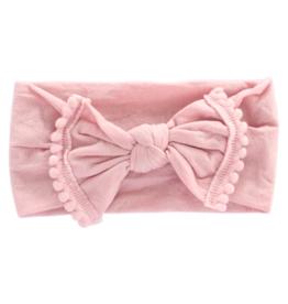 Mila & Rose Pom Pom Headwraps Vintage Pink