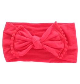 Mila & Rose Pom Pom Headwraps Red