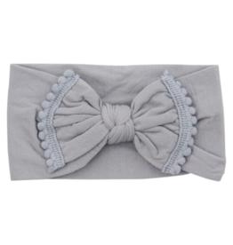 Mila & Rose Pom Pom Headwraps Grey
