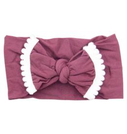 Mila & Rose Pom Pom Headwraps Cranberry