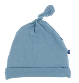 Kickee Pants Solid Knot Hat Blue Moon 3/12M, 12/24M