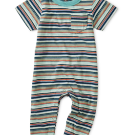 Tea Collection Striped Pocket Romper 18/24M